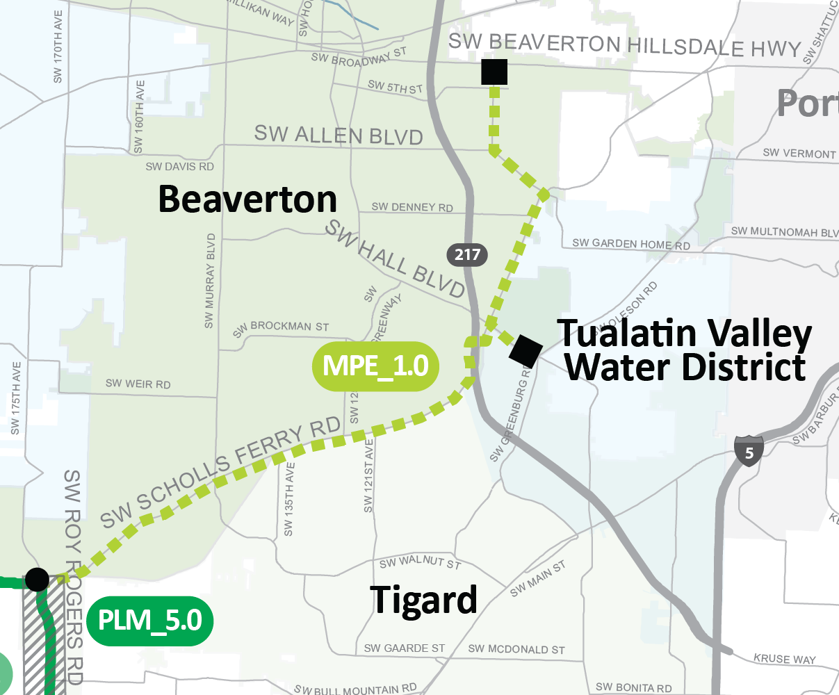 METZGER PIPELINE EAST Project Map